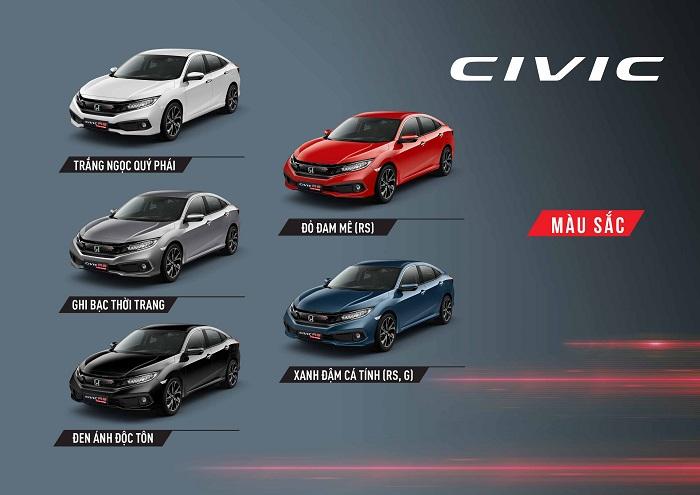 Honda Civic 2020 có tổng cộng bao nhiêu màu sắc (Phần 2)